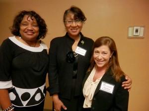 Rita Heard Days, St. Louis County's Democratic elections director; Judge Judy Draper, Associate Circuit Judge St. Louis County ; Denise Lieberman, Advancement Project,