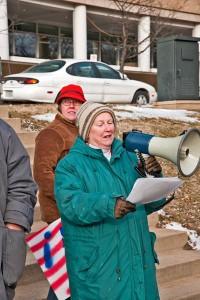 Amy Smoucha; Mary Clemons Anthem rally 2-17-2010