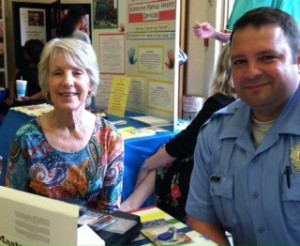 Susan Talley with Officer Berkley