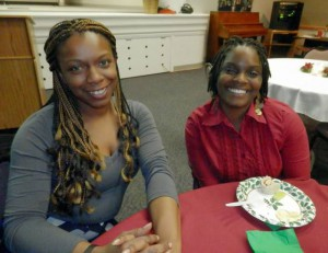 Mariesha Martin, director of Girls Night Out and participant Maurlene