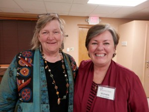 Bridget McDermott Flood, executive director, Incarnate Word Foundation and Michelle Schiller-Baker, executive director, St. Martha's Hall
